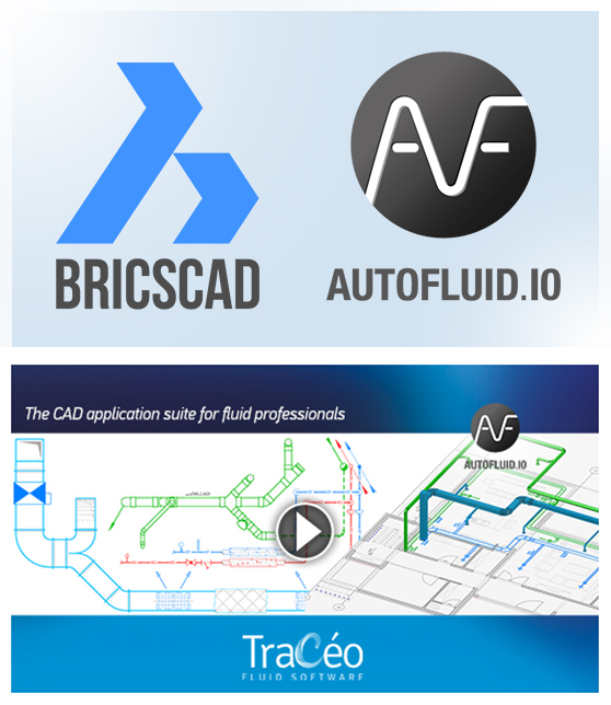 AUTOFLUID 10 and BricsCAD V18 MEP CAD software