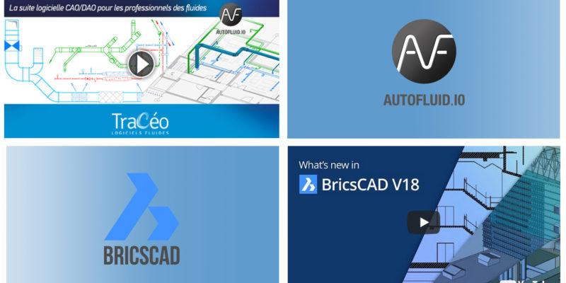 AUTOFLUID 10 et BricsCAD v18 - logiciels 2d 3d BIM pour CVC et plomberie